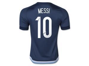 Men's 2015 Argentina Lionel Messi 10 Away Soccer Jersey (US Size Extra Large)