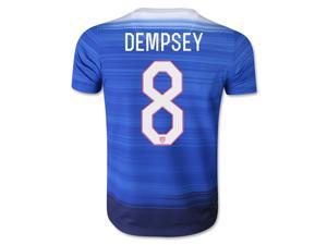 Men's 2015 USA Clint Dempsey 8 Blue Away Soccer Jersey (US Size Extra Large)