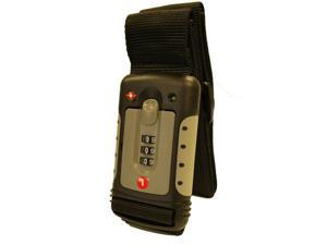 TSA Approved 3-DIAL Combination Luggage Strap with Baggage Constrictor & Indicator Function(With Instant Alert Red Tab Indicator If opened By TSA Officer)