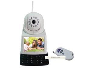 D2 Tech 36079273 3G Sim Card 4 in 1 IP Camera, Video Call, Recorder, Network Phone Camera with CCTV Camera, GSM Alarm System, Baby Monitor