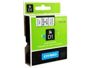 "DYMO Labeling Tape  1/2"" 12mm Black on White Dymo D1 Label Tape x 5 FREE 1"