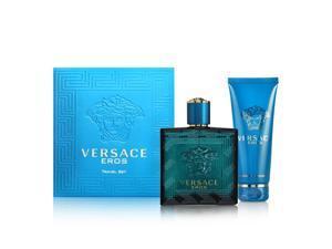 Versace Eros 2 Piece Set For Men - 3.4 oz Eau de Toilette Spray + 3.4 oz Invigorating Shower Gel