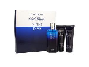 Davidoff - Cool Water Night Dive Coffret: Eau De Toilette Spray 125ml/4.2oz + After Shave Balm 75ml/2.5oz + Shower Gel 75ml/2.5oz 3pcs