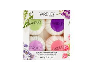 Yardley of London Luxury Soap Collection 4 x 1.7 oz Luxury Guest Soaps