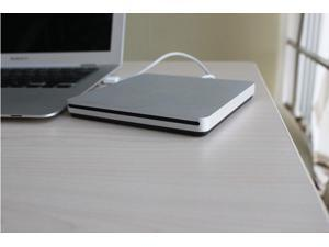 New Super Slim USB 2.0 External Slot-in DVD CD RW Drive Burner Caddy Superdrive For Apple MacBook Pro Air Mac Mini iMac and So On