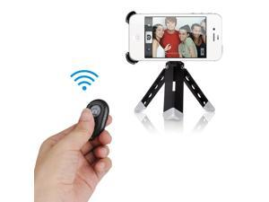 Black Wireless Bluetooth Remote Control Camera Shutter Release Self Timer for IOS and Android Smartphones, iPhone4 4s 5 5c 5s iPad 2 3 iPod Touch Samsung Galaxy S2 S3 S4 note 2 3 etc.
