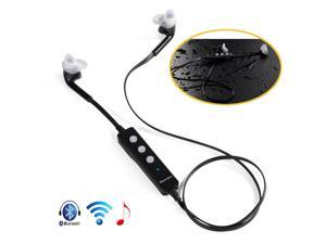 Black Wireless Bluetooth 4.0 A2DP Stereo Earphone Handsfree Headphone Headset with Mic, Volume Control, Sweat-proof For Samsung Galaxy S5 S4 S3 Note 2 3 HTC ONE M8 LG G2 Moto X Sony Nokia 1520 1020 PC