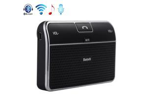 Bluetooth 4.0 A2DP In-Car Speakerphone Handsfree Stereo Car Kit Speaker with Visor Clip For iPhone 4S 5 5S 5C iPad iPod Smartphones MP3 MP4 Tablet Notebook - Noise Cancellation