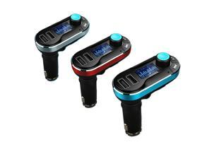 Victsing LCD Bluetooth Handsfree Dual USB Car Charger & MP3 Player & FM Transmitter, Support SD/TF Card & 3.5mm Plug - Red