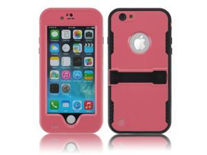 Pink Premium Durable Waterproof Case Shockproof Dirtproof Snowproof Rainproof Case Cover with Stand for iPhone 6 4.7 inch - Touch ID Support & Fingerprint Identification