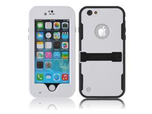 White Premium Durable Waterproof Case Shockproof Dirtproof Snowproof Rainproof Case Cover with Stand for iPhone 6 4.7 inch - Touch ID Support & Fingerprint Identification