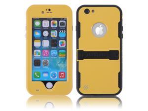 Yellow Premium Durable Waterproof Case Shockproof Dirtproof Snowproof Rainproof Case Cover with Stand for iPhone 6 4.7 inch - Touch ID Support & Fingerprint Identification