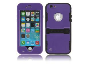 Purple Premium Durable Waterproof Case Shockproof Dirtproof Snowproof Rainproof Case Cover with Stand for iPhone 6 4.7 inch - Touch ID Support & Fingerprint Identification