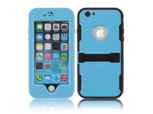 Deep Blue Premium Durable Waterproof Case Shockproof Dirtproof Snowproof Rainproof Case Cover with Stand for iPhone 6 4.7 inch - Touch ID Support & Fingerprint Identification
