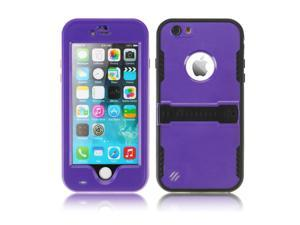 """Purple Premium Durable Waterproof Case Shockproof Dirtproof Snowproof Rainproof Case Cover with Stand for iPhone 6 Plus 5.5"""" - Touch ID Support & Fingerprint Identification"""