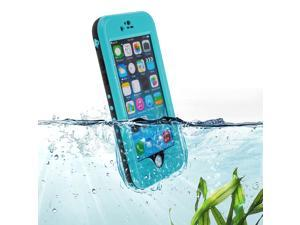 """Baby Blue Premium Waterproof Shockproof Dirtproof Snowproof Rainproof Durable Case Cover with Stand for 5.5"""" iPhone 6 Plus - Touch ID Support"""