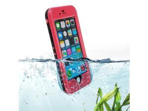 """Pink Premium Waterproof Shockproof Dirtproof Snowproof Rainproof Durable Case Cover with Stand for 5.5"""" iPhone 6 Plus - Touch ID Support"""