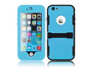 """Deep Blue Premium Durable Waterproof Case Shockproof Dirtproof Snowproof Rainproof Case Cover with Stand for iPhone 6 Plus 5.5"""" - Touch ID Support & Fingerprint Identification"""