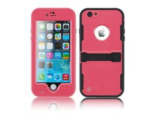 """Pink Premium Durable Waterproof Case Shockproof Dirtproof Snowproof Rainproof Case Cover with Stand for iPhone 6 Plus 5.5"""" - Touch ID Support & Fingerprint Identification"""