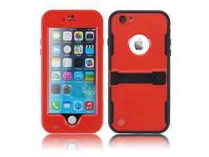 """Red Premium Durable Waterproof Case Shockproof Dirtproof Snowproof Rainproof Case Cover with Stand for iPhone 6 Plus 5.5"""" - Touch ID Support & Fingerprint Identification"""