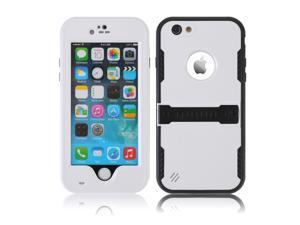 """White Premium Durable Waterproof Case Shockproof Dirtproof Snowproof Rainproof Case Cover with Stand for iPhone 6 Plus 5.5"""" - Touch ID Support & Fingerprint Identification"""