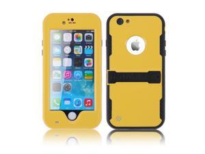 """Yellow Premium Durable Waterproof Case Shockproof Dirtproof Snowproof Rainproof Case Cover with Stand for iPhone 6 Plus 5.5"""" - Touch ID Support & Fingerprint Identification"""