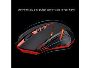 Victake 2000 DPI Optical 2.4GHz Wireless USB Gaming Mouse - Red