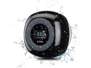 Vtin Portable Wireless Bluetooth 4.0 Shower Speaker - Water Resistant - Black
