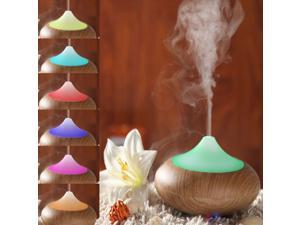 VicTake Aroma Diffuser New Wood Grain 140ml AromatUltrasonic Humidifier Air Moist Purifier Freshener For Bedroom Study Office Living Room Bathroom Yoga Room SPA Shop Fitness Room Conference Room Hotel