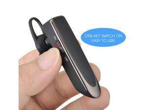 Bluetooth 4.0 Headset Headphone Earphone Earbuds Earpieces wireless handsfree with Stereo Clear - Voice Built-in 250mAh battery 66 feet Wireless range Pairs easy & Fits All Android Cell Phones