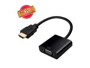 [2015 New Version]1080P HDMI(Gold-Plated) Male to VGA Female Video Converter Adapter Cable For PC Laptop DVD 