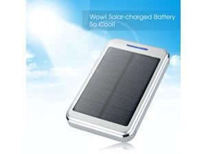 Silver Portable 16000mAh Solar Power Panel Power Bank Dual USB External Mobile Battery Charger For iPhone 5S 5C 5 4S, Samsung Galaxy S5 S4 S3 Note 2 3, Nokia 1520 1020, MP3 MP4 PDA PSP etc