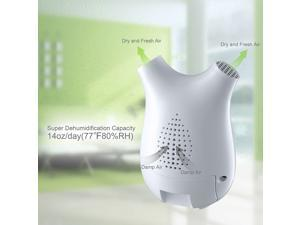 Auto Shut-off Ultra-mini Semiconductor Dehumidifier Air Dryer with Large Dehumidification Capacity(up to 14oz per day) Touch-screen Multi-mode Whisper-quiet Air Purification