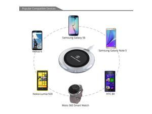 Wireless Charger, Qi-enabled Wireless Charger Dock Station Wireless Charging Pad for Samsung S6 S6 Edge, Note 5,Nexus 4 / 5 / 7,Nokia Lumia, LG Vu2,HTC 8X/Droid DNA and other Qi-enabled Devices Cell P