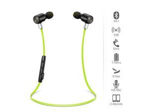 Vtin Bluetooth HeadphonesV4.1 Wireless Sport Headphones Stereo In-Ear Noise Cancelling Headphones with APT-X/Mic for iPhone 6s 6s plus 6 6 plus 5S 4S Galaxy S6 S5 and Android Phones