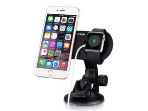 Victake Car Mount, Vtin Dual Car Holder Windshield Dashboard Car Cradle for iPhone and Apple Watch