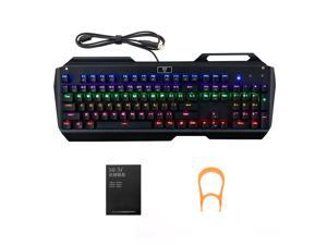VicTake Gaming Mechanical Keyboard 104-Key Mechanical Gaming Keyboard with Multi-color Backlight With USB Cable Attached with Key Cap Puller Fit for Gamers, Typists