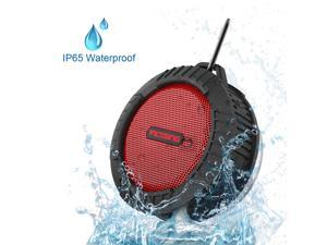 VicTsing Wireless Bluetooth 3.0 Waterproof Outdoor / Shower Speaker, with 5W Speaker/Suction Cup/Mic/Hands-Free Speakerphone - Red
