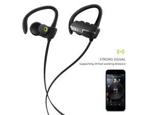 Vtin Bluetooth 4.1 Wireless Sport Headphones Sweatproof Stereo Earbuds Headset In-ear Secure Fit Running Gym Exercise Earphones with aptX and Mic Hands-free Calling for  Smartphones - Black