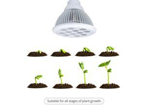 Lamps Plant Growing Light Bulbs - LED Grow Lights  (660nm and 630nm Red and 460nm Blue) E27 Growing Bulbs For Garden Greenhouse and Hydroponic Full Spectrum Growing Lamps 3 Bands Growing Combination