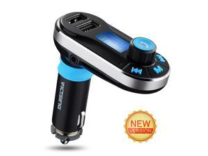 Victake 5in1 Wireless Bluetooth Car Music Player Fm Transmitter Dual USB Car Charger for Iphone Samsung Smartphones Tablet Music Control Hands-free Calling