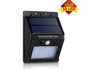 New 16LED Solar Panel Powered Motion Sensor Lamp Outdoor Light Garden Security Light 320lm with Diamond Lampshade