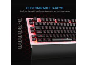Victsing LED Backlit Wired Gaming Keyboard, Mechanical-Similar Typing Experience