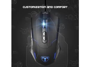 Victake 7200DPI Programmable Gaming Mouse for PC, Soothing LED Color, Support Macro Editor