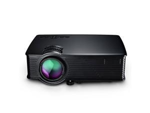 VicTake LCD Projector Mini Portable Multimedia Home Theater With USB SD HDMI VGA for Video Game Movie Backyard Cinema