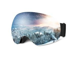 VicTake Ski Snowboard Goggles with 100% UV400Protection, Detachable and Anti-Fog Double Lens