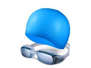 Swim Cap&Swimming Goggles, Premium Silicone Swim Goggles with UV Protection and Anti Fog Technology for Men and Women