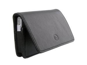 NEW BLACK LEATHER CARRYING POUCH CASE SLEEVE BELT CLIP HOLSTER WITH MAGNETIC CLOSURE FOR APPLE IPHONE 3, IPHONE 4, IPHONE 4S, IPHONE 5, IPOD TOUCH 1 2 3 4 5