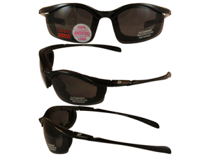 Birdz Snipe Motorcycle Glasses with Smoke Shatterproof Anti-Fog Polycarbonate Lenses and Removable Wind Blocking Foam