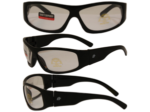 Birdz Blackbird Aggro-Look Riding Glasses with Clear Lenses